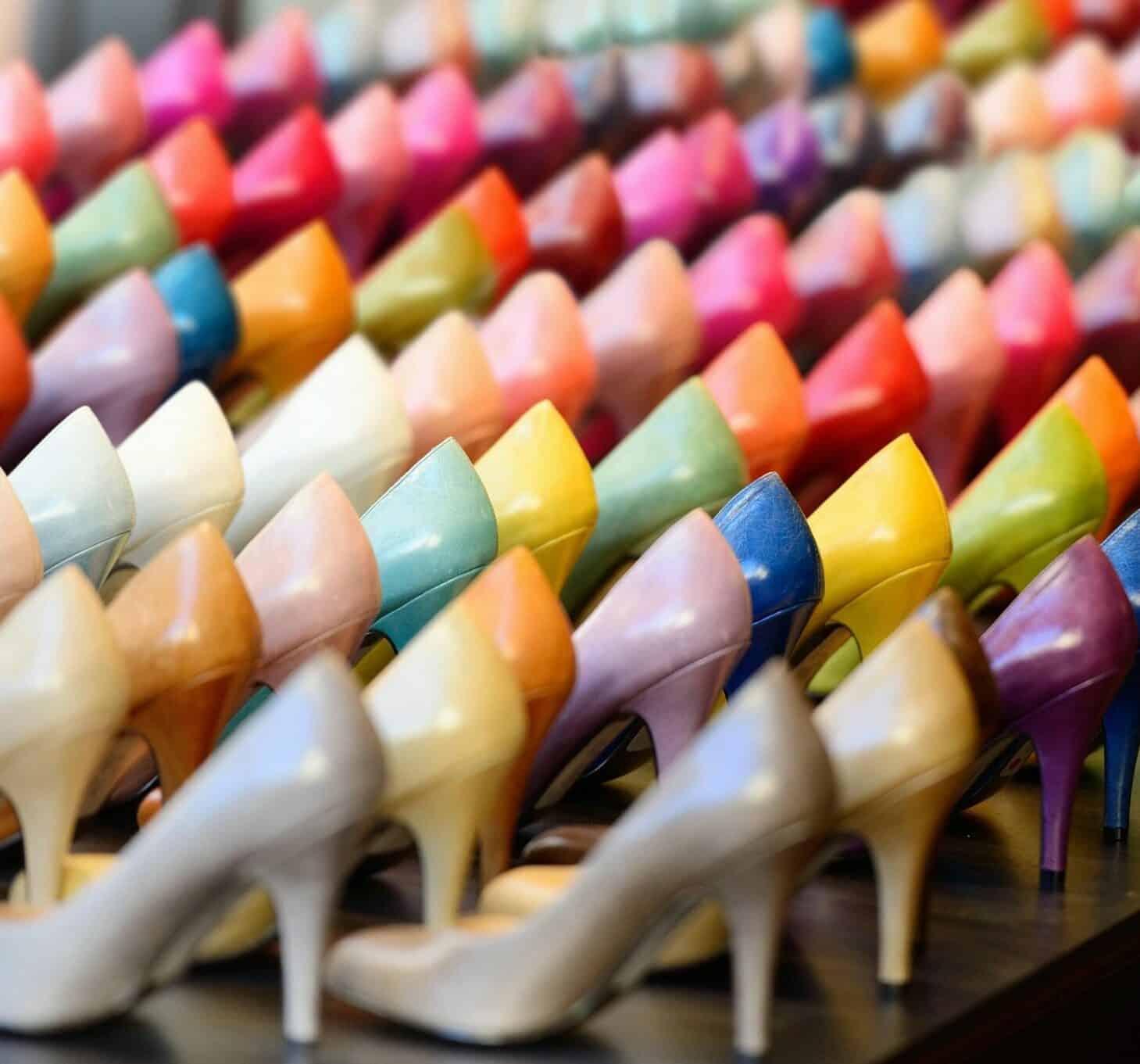 Pastel colored shoes