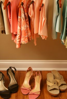 Clothes and shoes closet