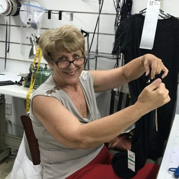 Lena Second Head Seamstress at Hem Over Heels