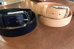 Custom made alligator belts at Hem Over Heels